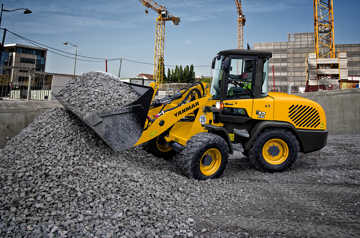 Yanmar V12 wheel load - compact construction equipment