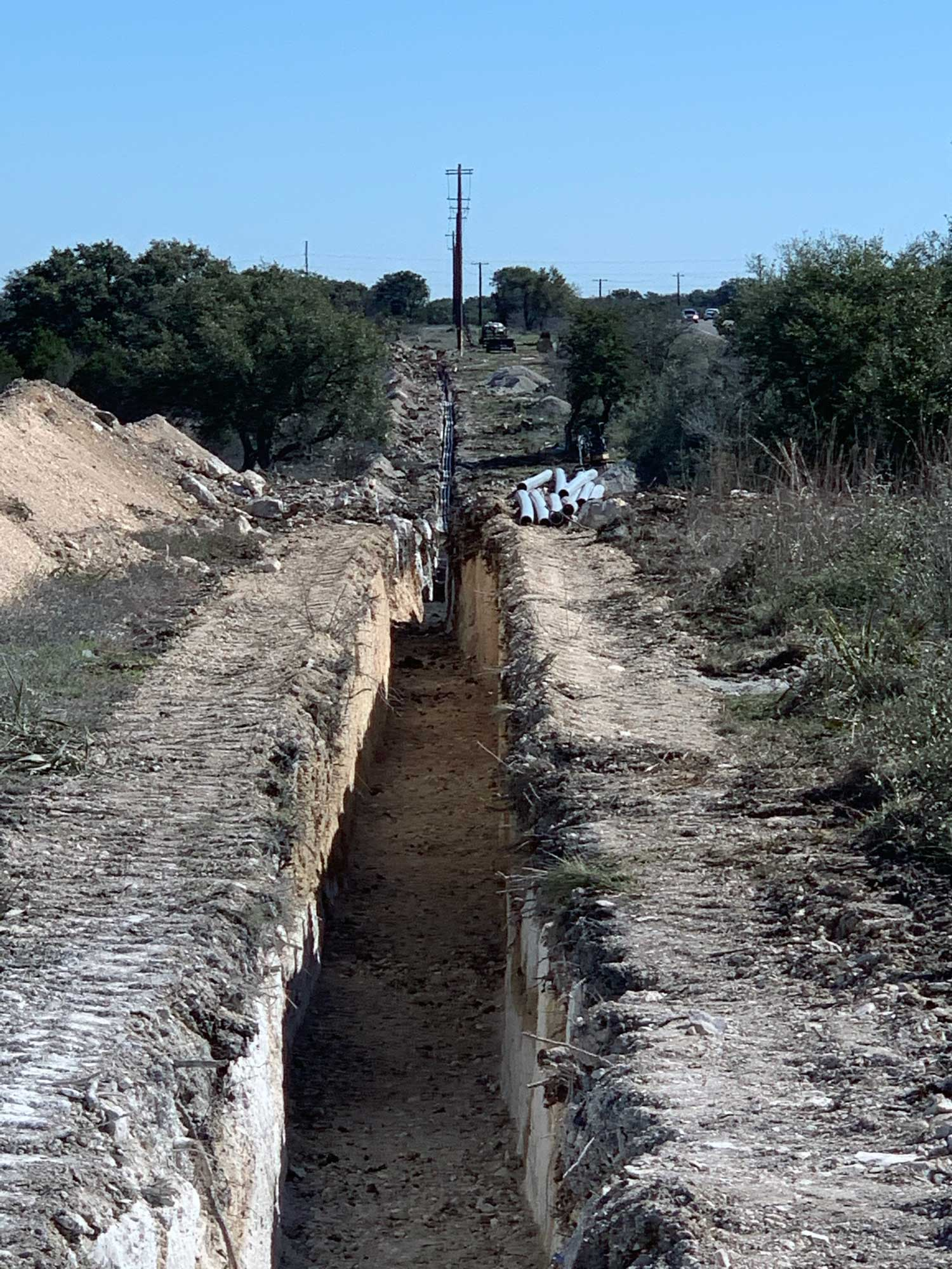 Trenching in Central Texas