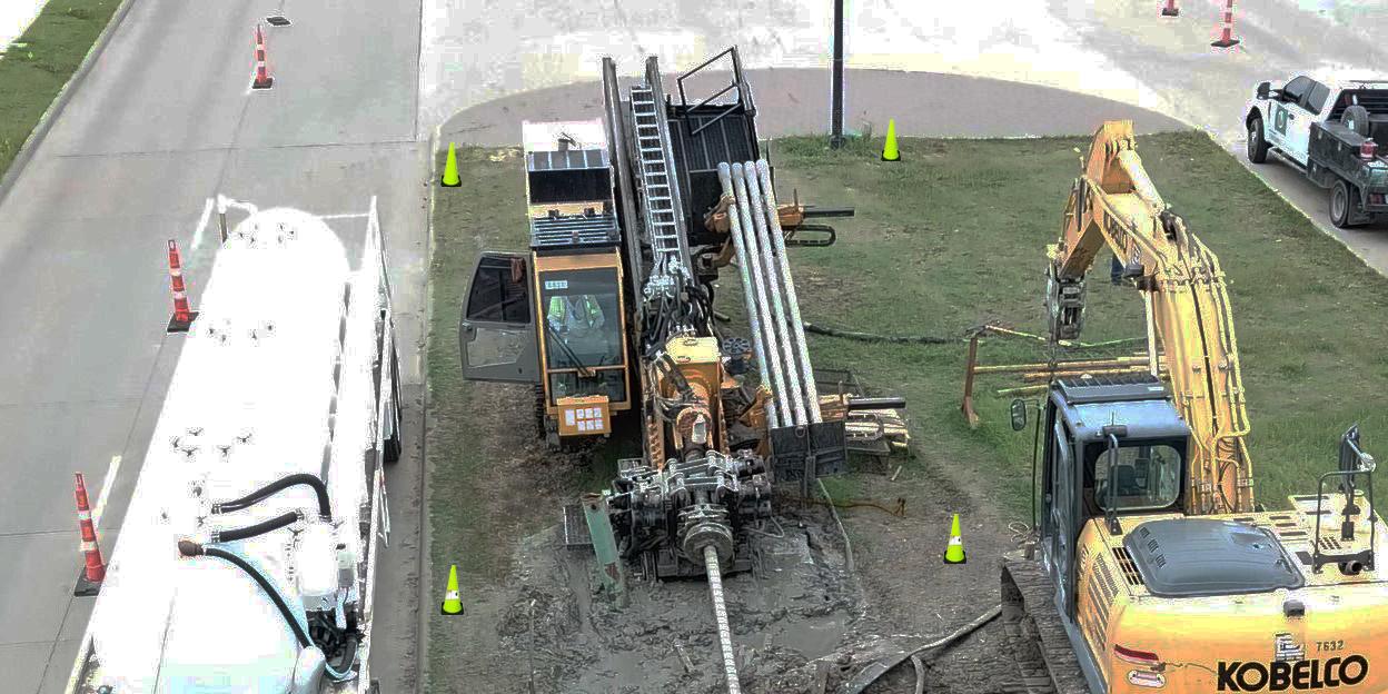 Rig at Dakota Utility Contractors drilling jobsite