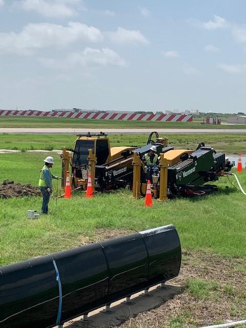 Vermeer horizontal directional drills on site with Dakota Utility Contractors